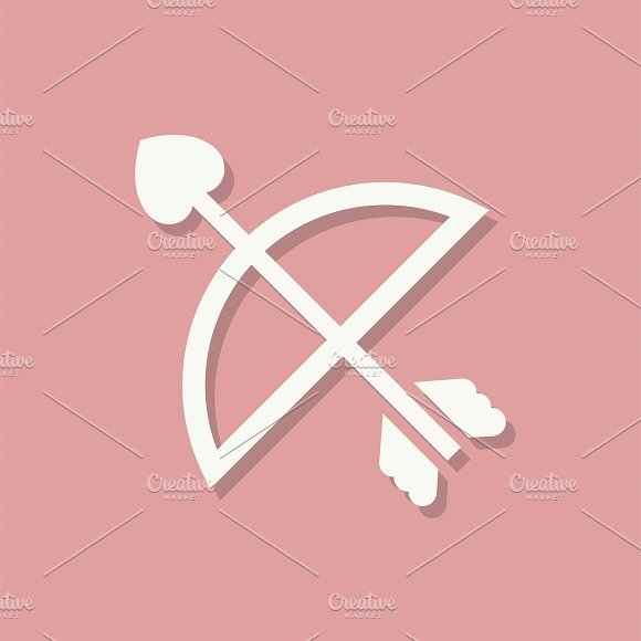 Cupids Arrow Valentines Day Icon
