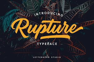 Rupture Typeface - Font Duo