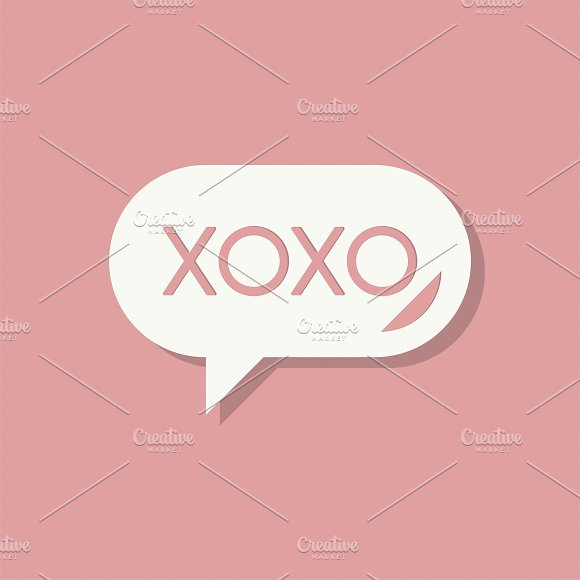 XOXO Message Valentines Day Icon