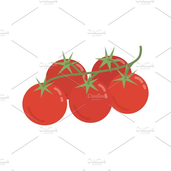 Red Tomatoes Graphic Illustration