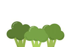 Green broccoli graphic illustration