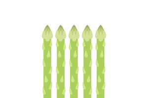 Green asparagus graphic illustration