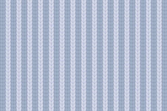 Blue Striped Knitwear Pattern