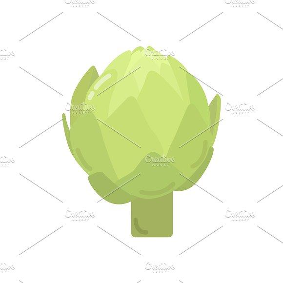 Green Artichoke Graphic Illustration