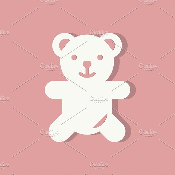 Teddy Bear Valentines Day Icon