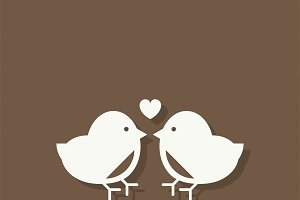 Love birds Valentines day icon