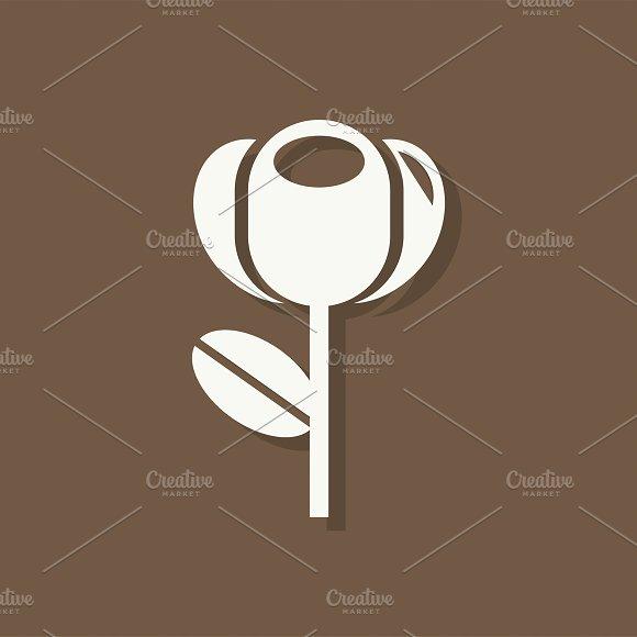 Tulip Flower Valentines Day Icon