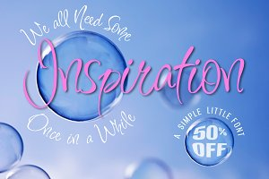 Inspiration Font 50% Off