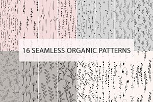 Seamless Organic Leafy Patterns