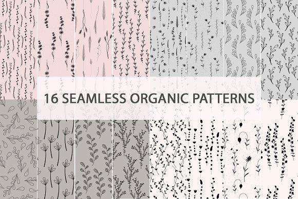 Seamless Organic Leafy Patterns