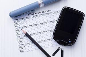 diabetes control set background