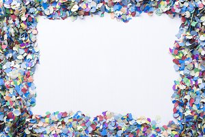 confetti on a blank background