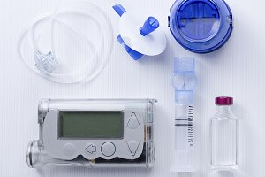 insulin pump set background