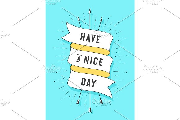 Have A Nice Day Old Ribbon Banner