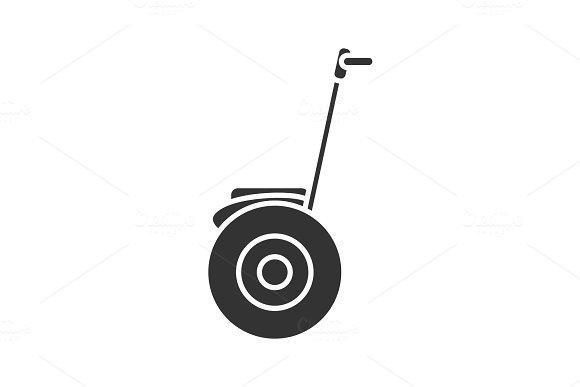 Self-balancing Scooter Glyph Icon