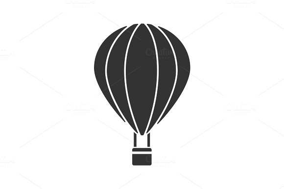 Hot Air Balloon Glyph Icon
