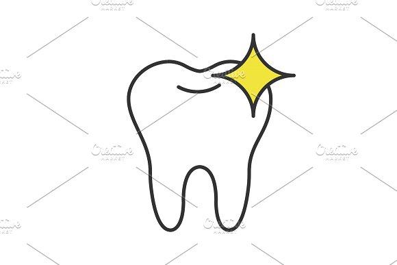 Healthy Shining Tooth Color Icon