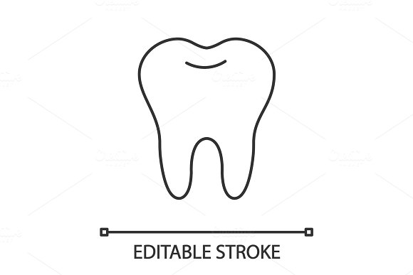 Healthy Tooth Linear Icon