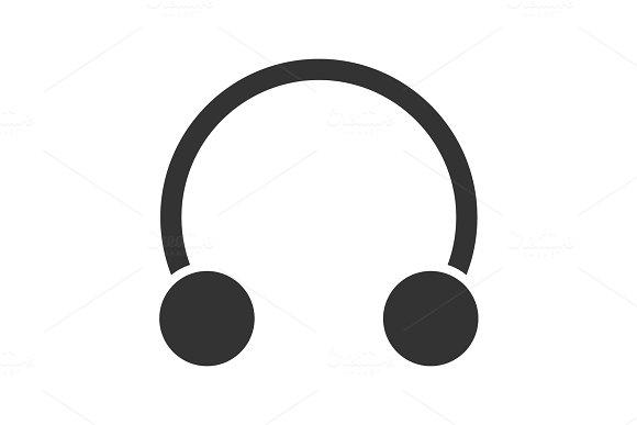 Half Hoop Earring Glyph Icon