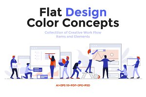 Modern Flat design Business concepts