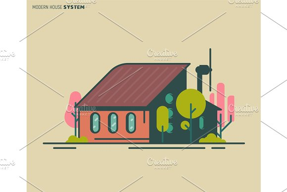 Modern House Illustration