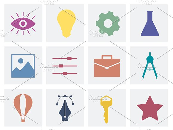 Collection Of Business Icon Graphics