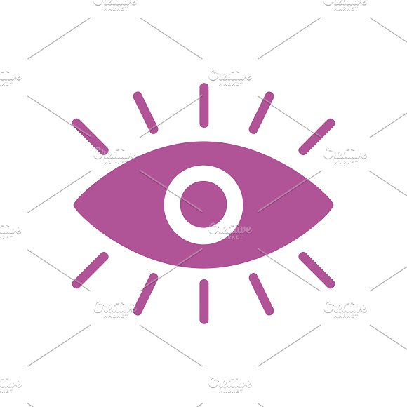 A Pink Eye Graphic Icon