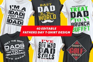 40 Editable Fathers Day Tshirts