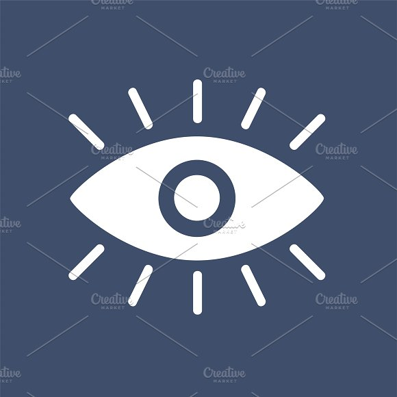 A White Eye Graphic Icon