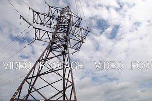 High voltage post.