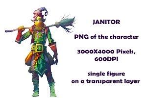 Janitor PNG fantasy art