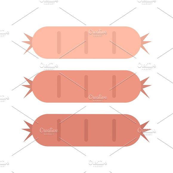 Tasty Sausages Graphic Illustration