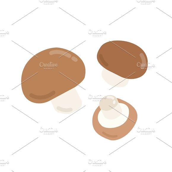 Brown Mushrooms Graphic Illustration