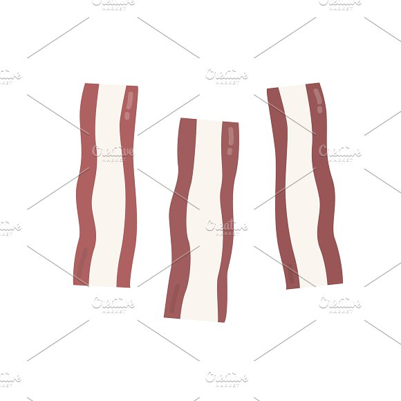 Bacon Strips Graphic Illustration