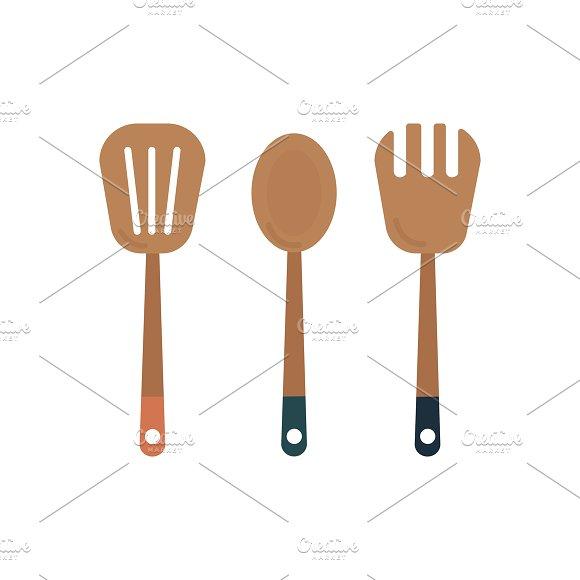 Wooden Cooking Utensils Graphic