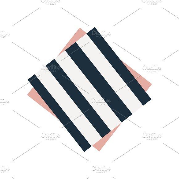 Striped Napkin Graphic Illustration