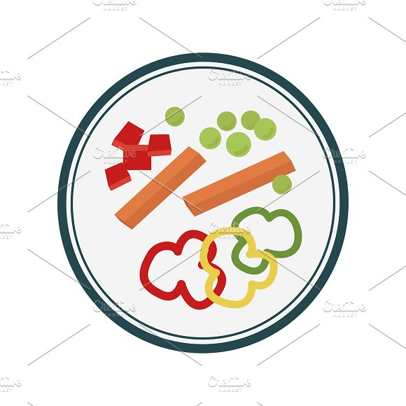 Veggies Graphic Illustration