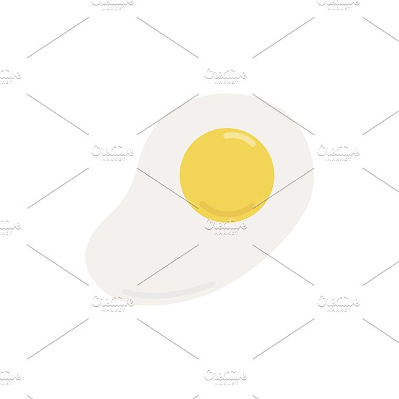 Fried Egg Graphic Illustration