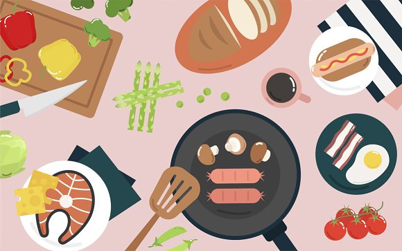 Cooking Graphic Illustration