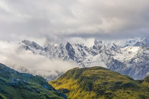 Panorama of Mount cook