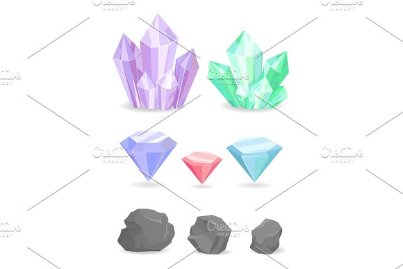 Color Crystals And Minerals Precious Diamond