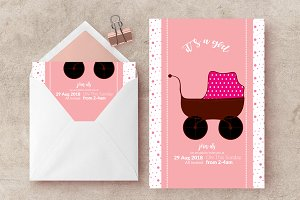 Baby Shower Invite Flyer Template