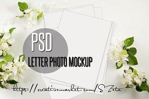 Letter photo mockup 1