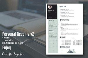 Creative Personal Resume - Minimal