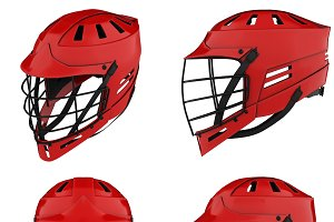 Set of Classic Lacrosse helmets.