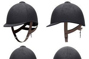 Set of Classic Jockey horseride helmets