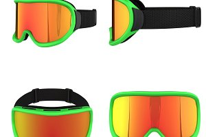 Set of SKI Snowboard Goggles