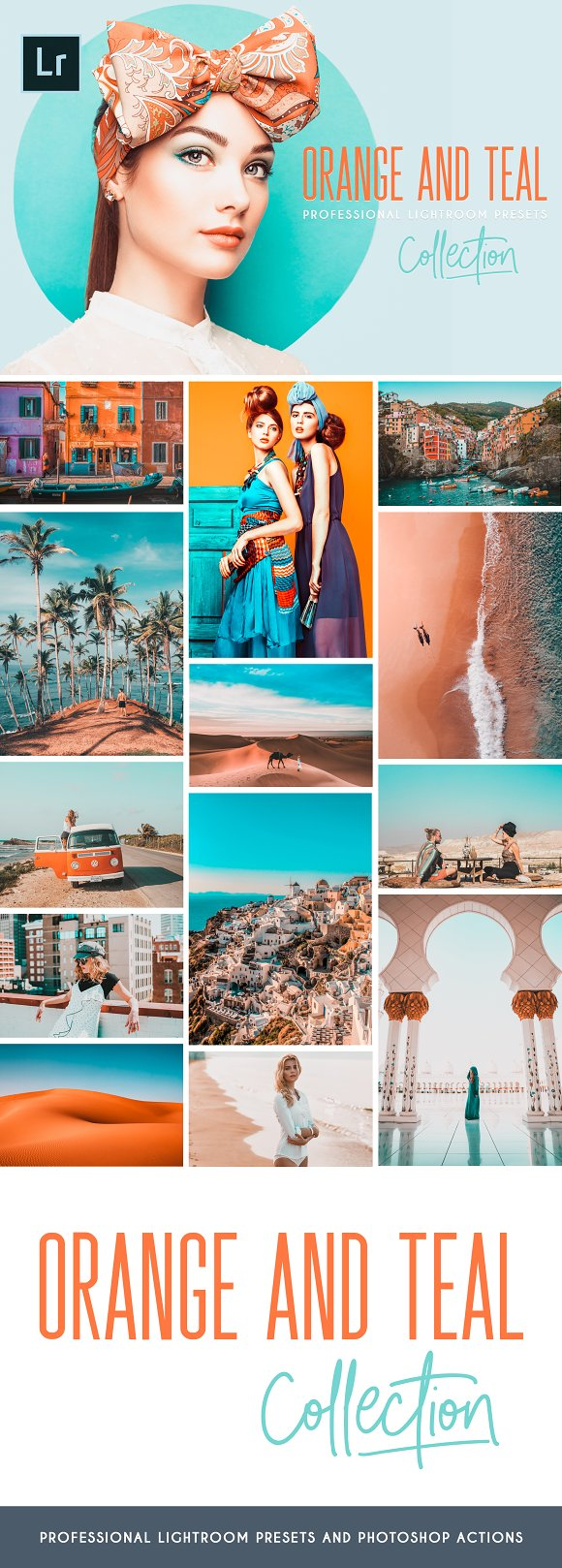 ORANGE AND TEAL LIGHTROOM PRESETS