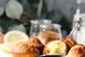 Homemade lemon muffins