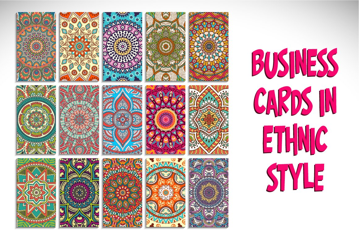 Business cards in ethnic style business card templates business cards in ethnic style magicingreecefo Images